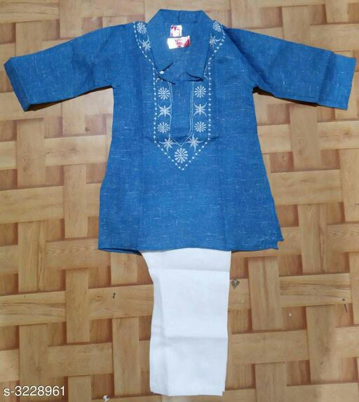 Whatsapp -> http://bit.ly/2LJO2Zk (+918087117007) Checkout this hot & latest Kurta Sets Amazing Kid's Boy's Kurta Set Fabric: Cotton Sleeves: Sleeves Are Included Size: Age Group (0 - 1 Year) - 16 in Age Group (1 - 2 Years) - 18 in Age Group (2 - 3 Years) - 20 in Age Group (3 - 4 Years) - 22 in Age Group (4 - 5 Years) - 24 in Age Group (5 - 6 Years) - 26 in Age Group (6 - 7 Years) - 28 in Age Group (7 - 8 Years) - 30 in Age Group (8 - 9 Years) - 30 in Age Group (9 - 10 Years) - 32 in Age Group (10 - 11 Years) - 32 in Type: Stitched Description: It Has 1 Piece Of Kid's Boy's Kurta, 1 Piece Of Boy's Pyjama Pattern/Work: Kurta - Printed, Pyjama- Solid Sizes Available - 2-3 Years, 3-4 Years, 4-5 Years, 5-6 Years, 6-7 Years, 7-8 Years, 8-9 Years, 9-10 Years, 10-11 Years, 0-1 Years, 1-2 Years