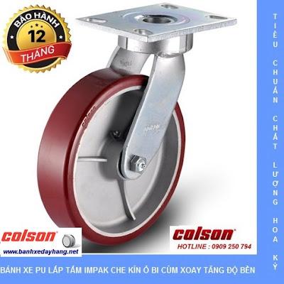 Báo giá bánh xe chịu lực phi 150 - 200 Colson Caster Mỹ banhxedaycolson.com