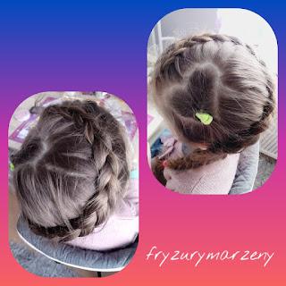 Serce z wlosow-warkocz holenderski-fryzurymarzeny-fryzury na walentynki