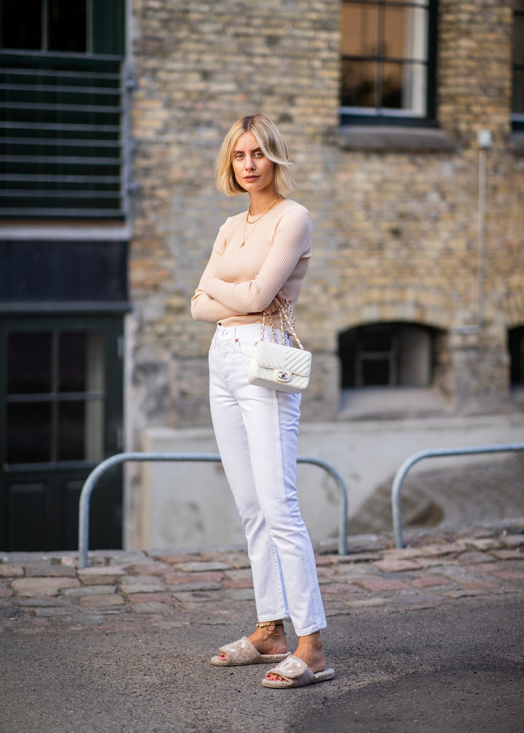 How to Wear White Denim This Fall