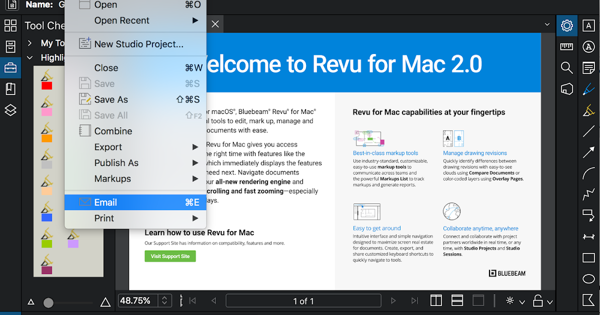 Document Geek: How to Email a PDF using Bluebeam Revu