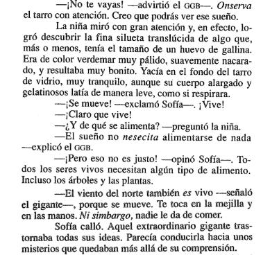 Cita 2 del libro El gran gigante bonachón, de Roald Dahl - Cine de Escritor