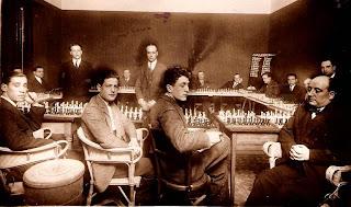 Simultáneas de ajedrez impartidas por Plácido Soler en 1928