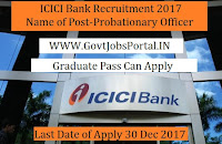 ICICI Bank PO Recruitment 2017 in India