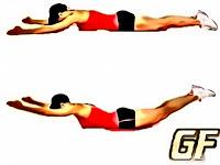 Cara melatih otot punggung superman