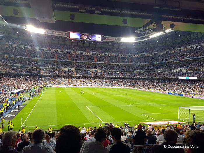 jogo do Real Madrid no Santiago Bernabéu
