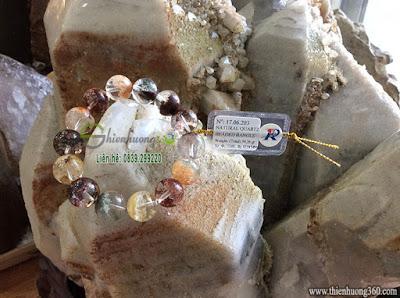 Vòng đá thạch anh ưu linh thiên nhiên phong thủy may mắn bình an