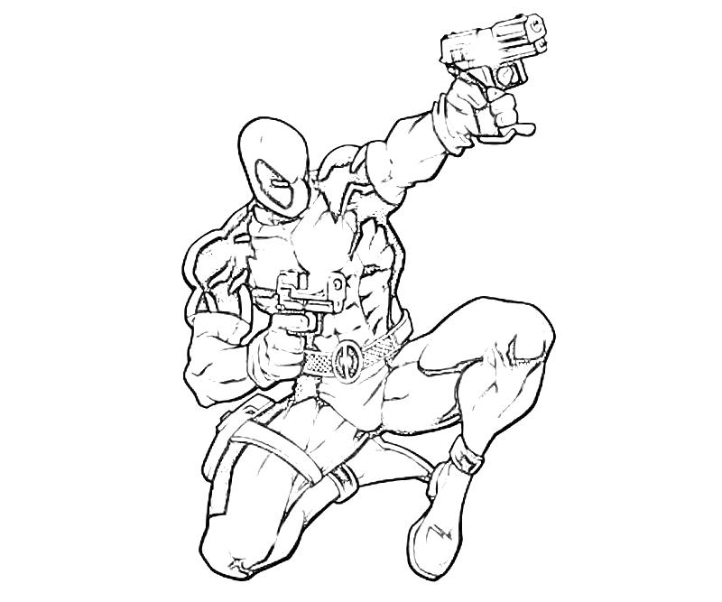 Marvel vs capcom deadpool fight yumiko fujiwara for Deadpool printable coloring pages