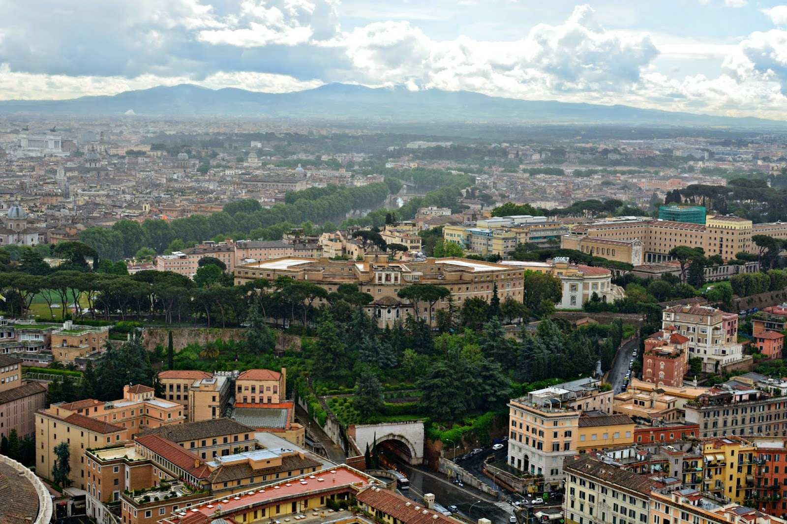 View of Rome from the top of St Peter's Basilica