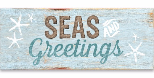 Seas and Greetings Wood Wall Art Plaque