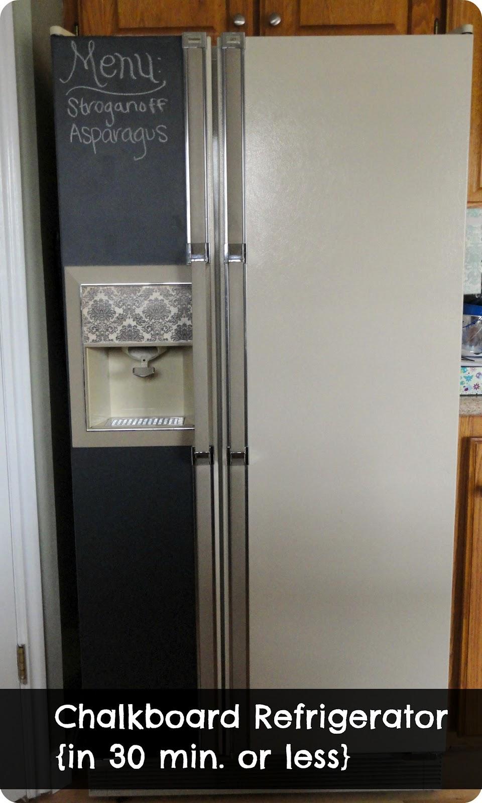 Chalkboard Refrigerator A Little Tipsy