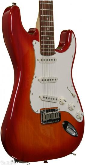 Đàn Guitar Điện Squier Standard Stratocaster, Cherry Sunburst
