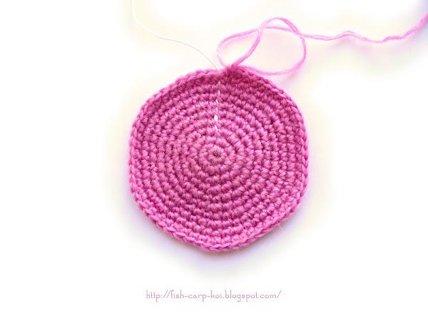 Техника вязания крючком - прибавки при вязании круга
