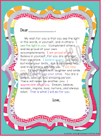 colorful letter to student
