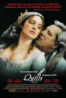 """Carátula del DVD: """"Quills"""""""