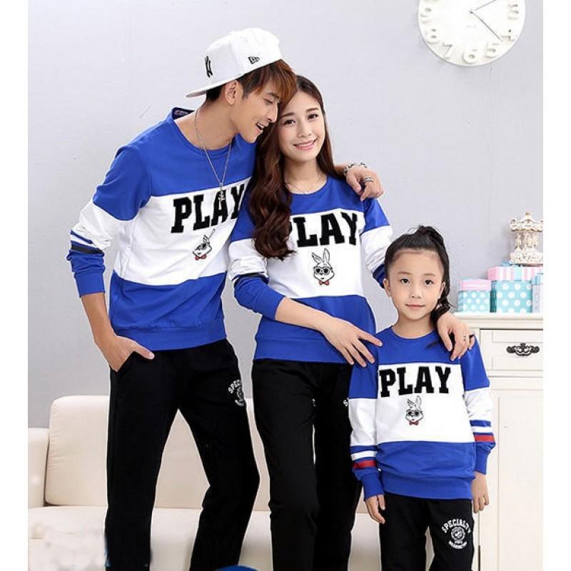 Jual Online Family Sweater Play Murah Jakarta Bahan Babytery Terbaru