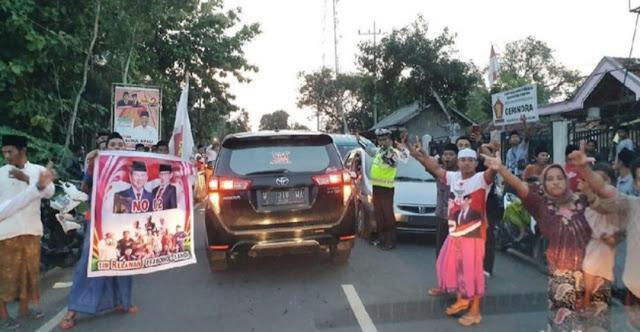 Mulai Kalap,Pendukung Prabowo Hadang Kiai Maruf di Pemekasan