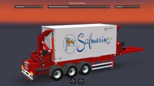 Hammar Boxloader trailer with 9 Cargos