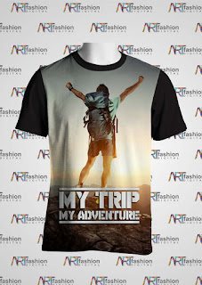 Kaos Oblong Series My Trip My Adventure Backpacker Boy