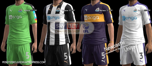 PES 2013 Newcastle Kit Season 2016-2017