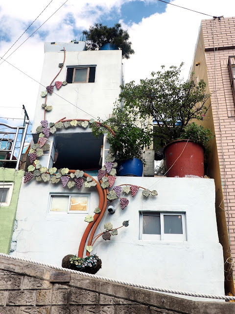 """A View With Grapes"" art installation in Gamcheon Village, Busan, South Korea"