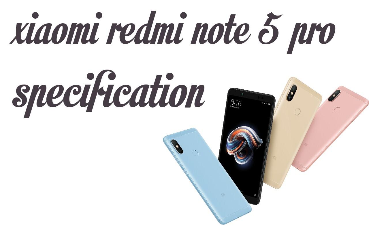 Xiaomi Redmi Note 5 Pro Specifications Auto Focus New