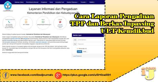 Cara Laporan Pengaduan TPP dan Berkas Inpassing ULT Kemdikbud