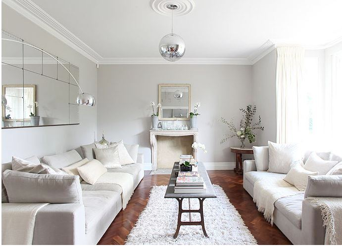 Walnut Wood Floors Gray Walls Cococozy
