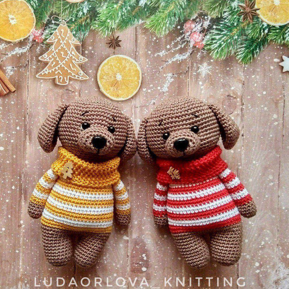 Amigurumi dog Toshka free pattern | Amiguroom Toys | 1000x1000
