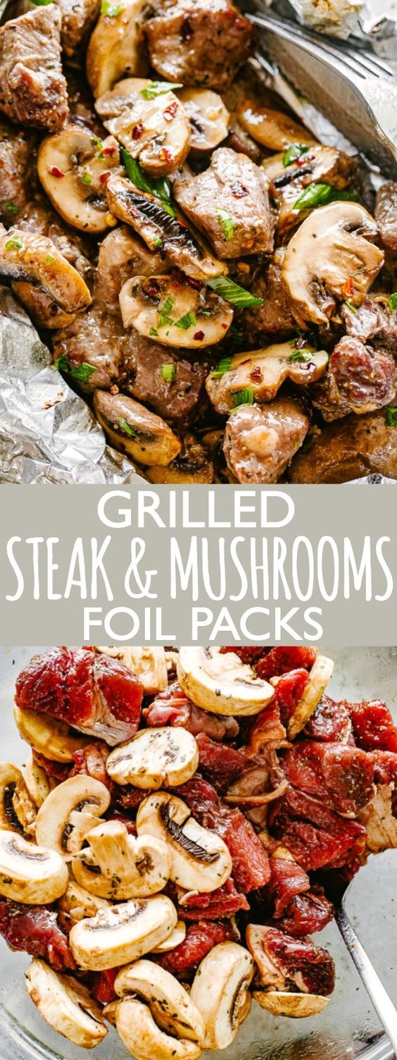 Steak And Mushrooms Foil Packs