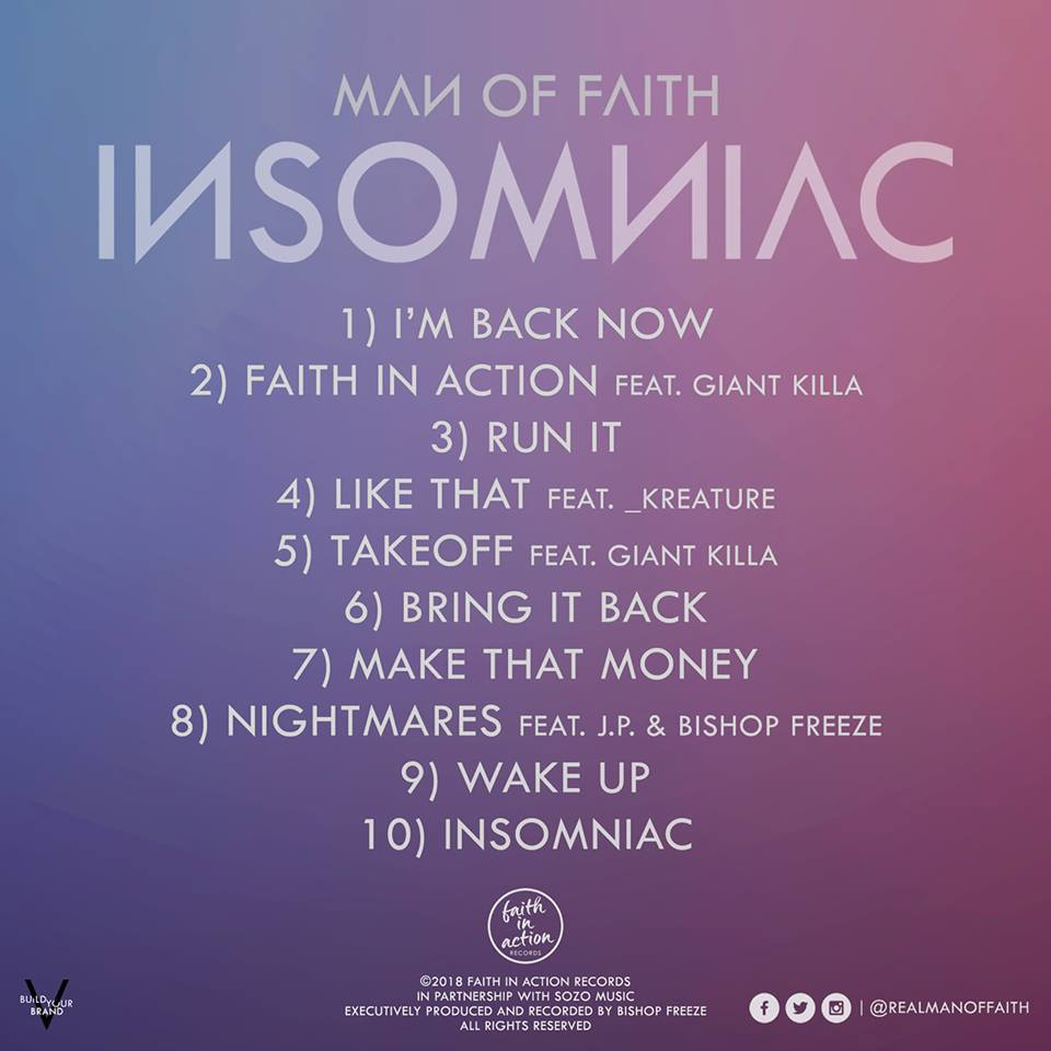 Man-of-faith--Insomniac-2018-Tracklisting