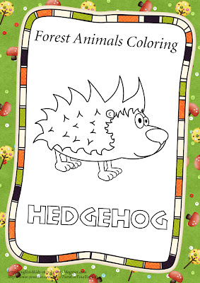 hedgehog coloring