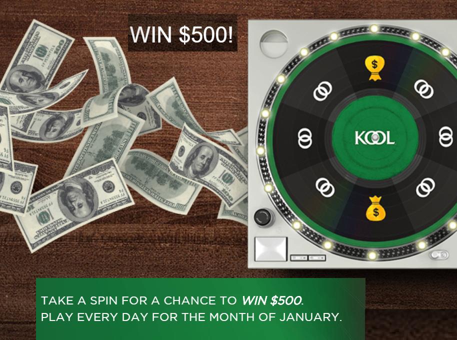 Kool Revolution $500 Instant Win Giveaway - 31 Winners Each Win $500