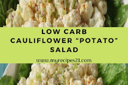"Low Carb Cauliflower ""Potato"" Salad"
