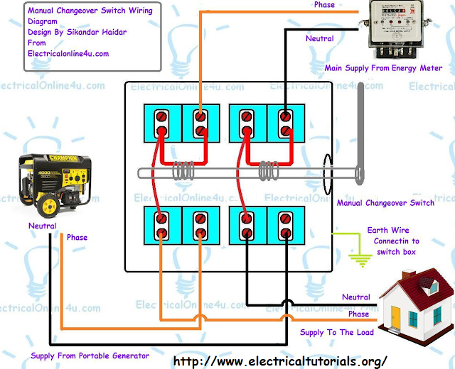electrical manual transfer switch wiring diagram
