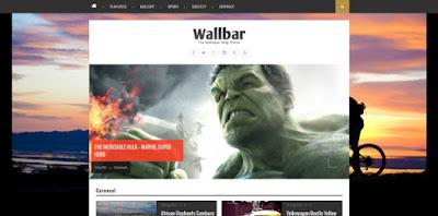 Wallbar - скачать бесплатно шаблон для blogger blogspot
