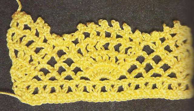 Patrón #1285: Encaje de Conchas a Crochet