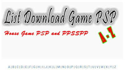 List Game PSP Full Dwonload