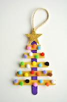 arbolito de navidad mini con palitos de madera
