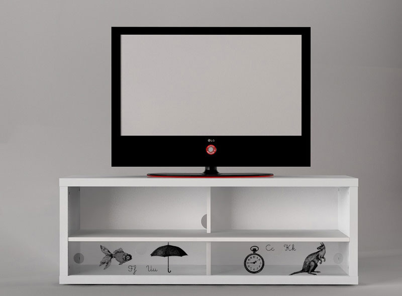 digitally printed media cabinet