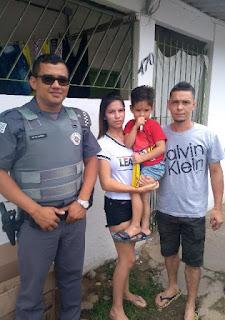 Menino de 3 anos desaparece e é encontrado pela Polícia Militar em Registro-SP