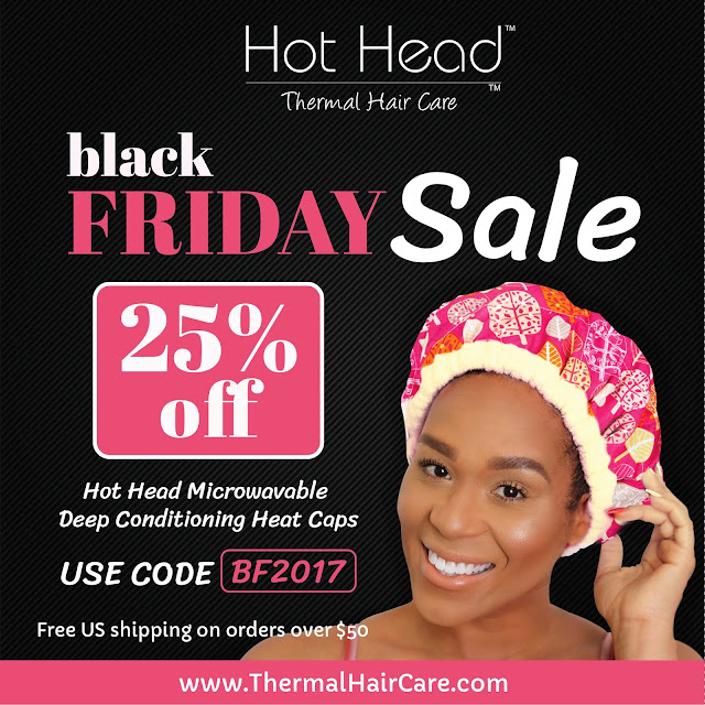 Hot Head Deep Conditioning Cap Black Friday 2017 - ClassyCurlies