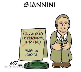 ballarò, Giannini, Sanremo, PD, vignetta satira