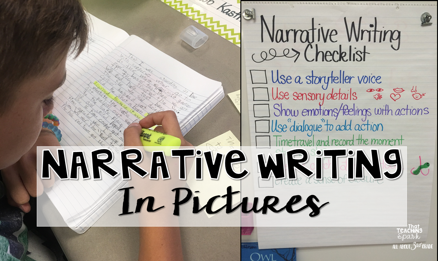 narrative writing in pictures: anchor charts and ideas | all about