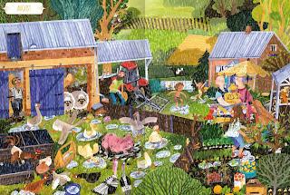 """Einblick ins Wimmelbuch """"Ein Jahr auf dem Land"""" von Magdalena Koziel-Nowak"""