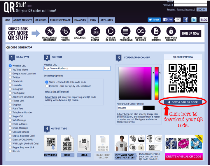 how to get qr code from ticwatch