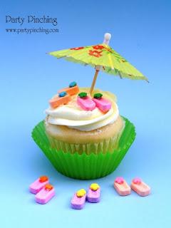 Summer Flip Flop Cupcakes