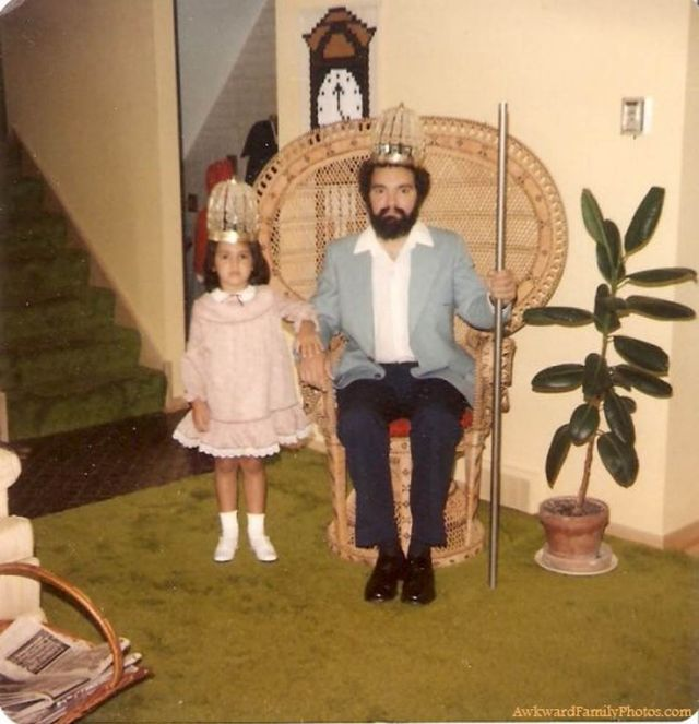 30 Most Awkwardly Glamour Photos Involving Dad That Will