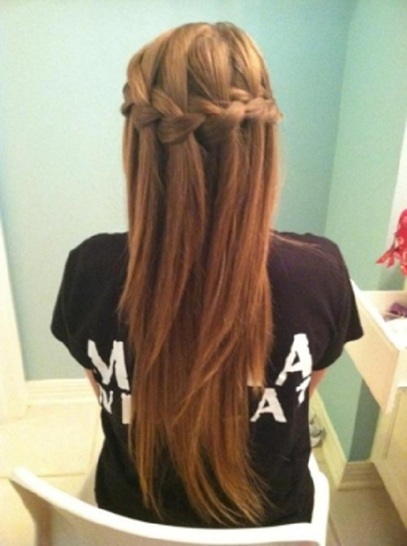 29 peinados con trenzas cascada mujeres peinados cortes - Chicas con trenzas ...