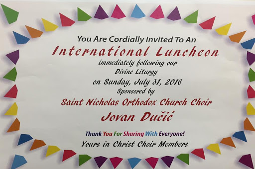 St. Nicholas International Luncheon July 31, 2016